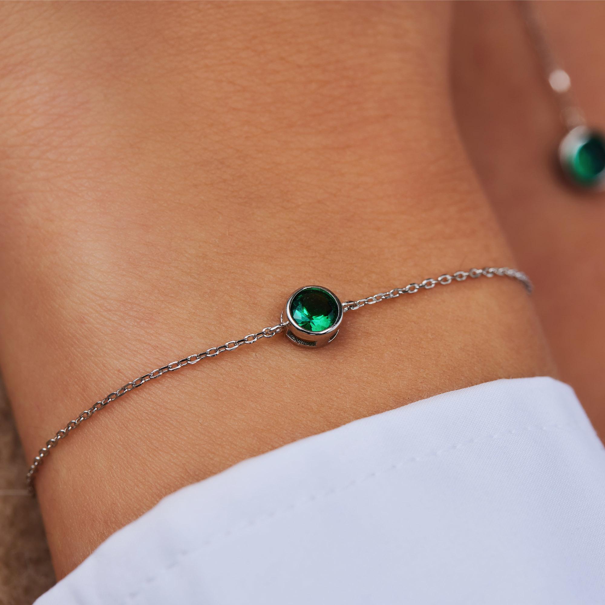 Violet Hamden Venus 925 sterling sølv armbånd med fødselssten