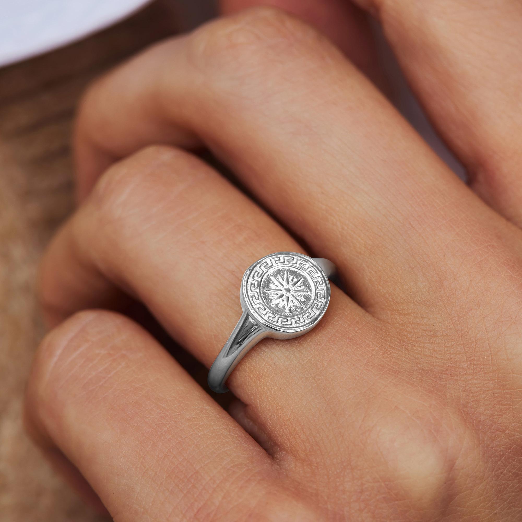 Violet Hamden Athens ring i 925 sterling silver