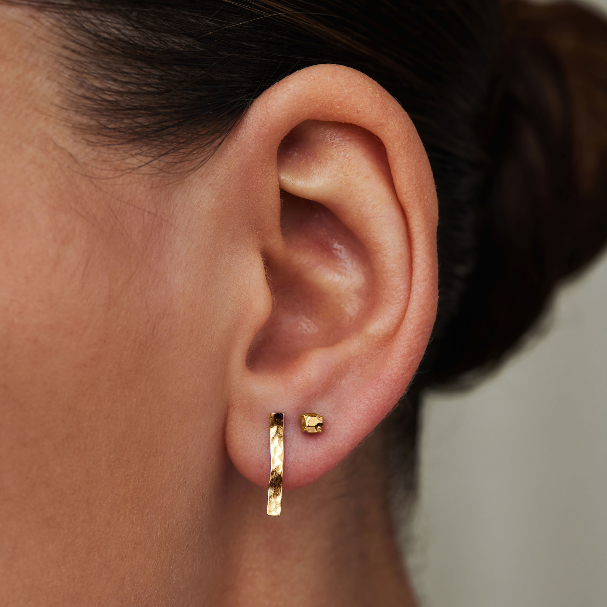 Violet Hamden Sisterhood Stella 925 sterling silver gold colored ear studs
