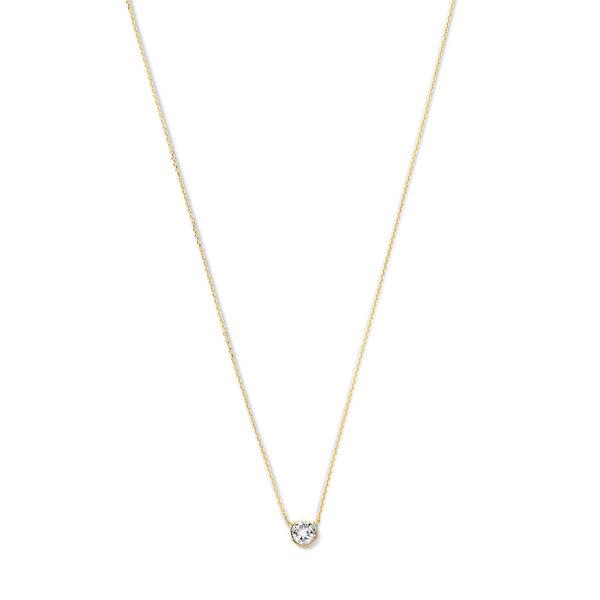 Violet Hamden Venus 925 sterling silver gold coloured necklace with birthstone