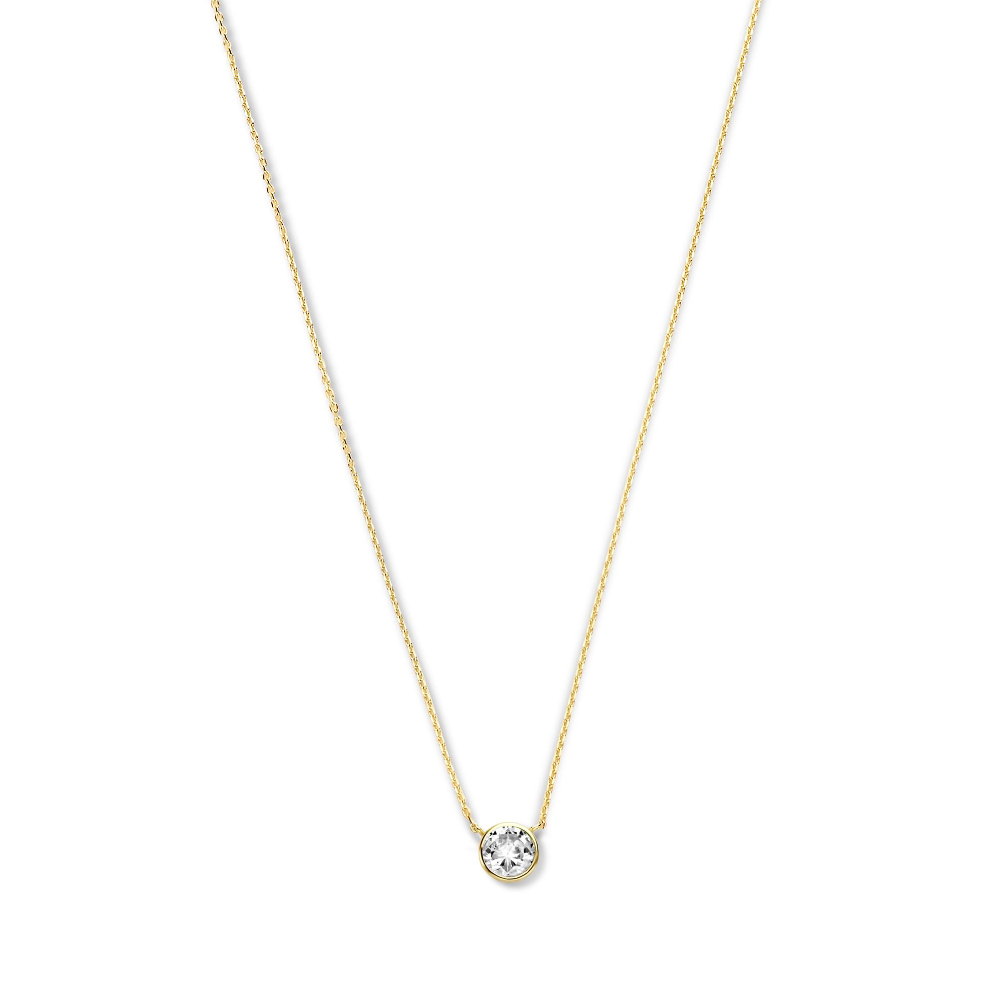Violet Hamden Venus 925 sterling silver guldfärgad halsband med födelsesten