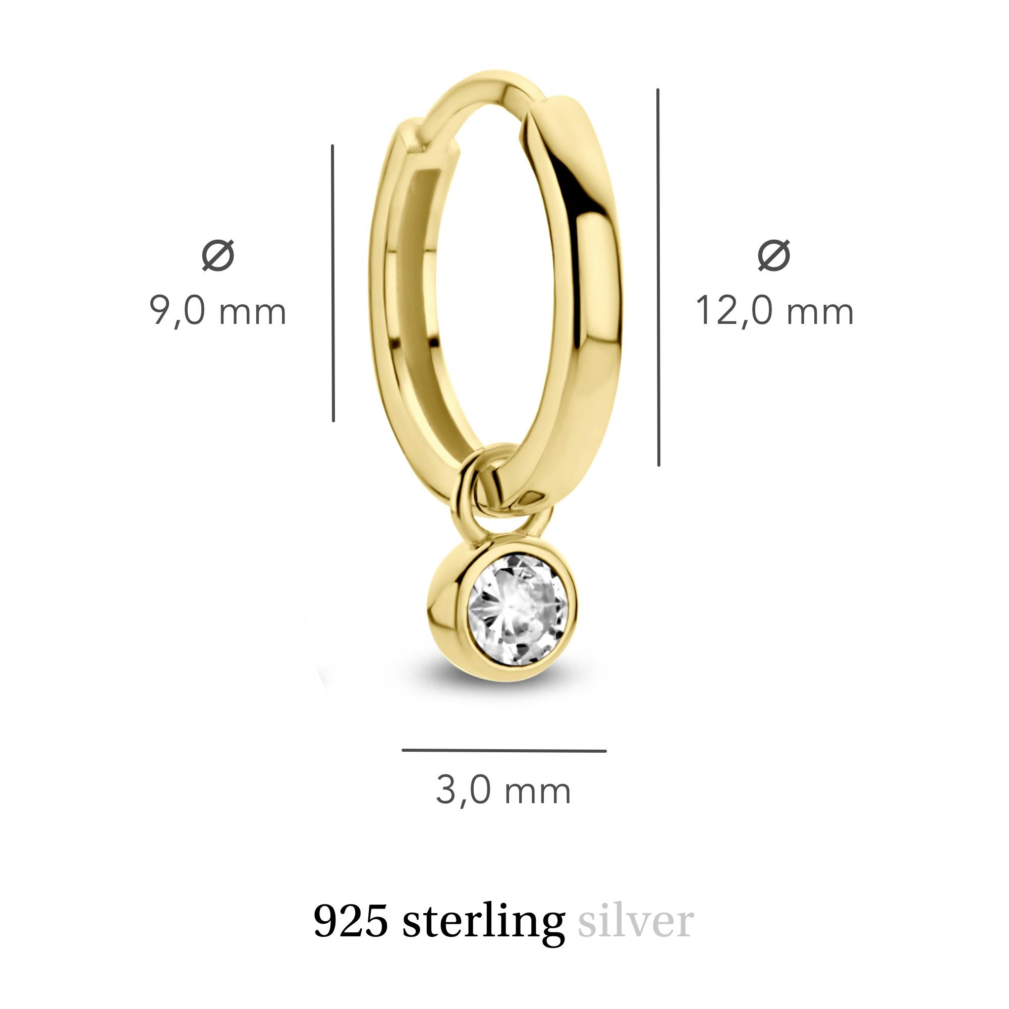 Violet Hamden Venus 925 sterling zilver goudkleurige creolen met geboortesteen
