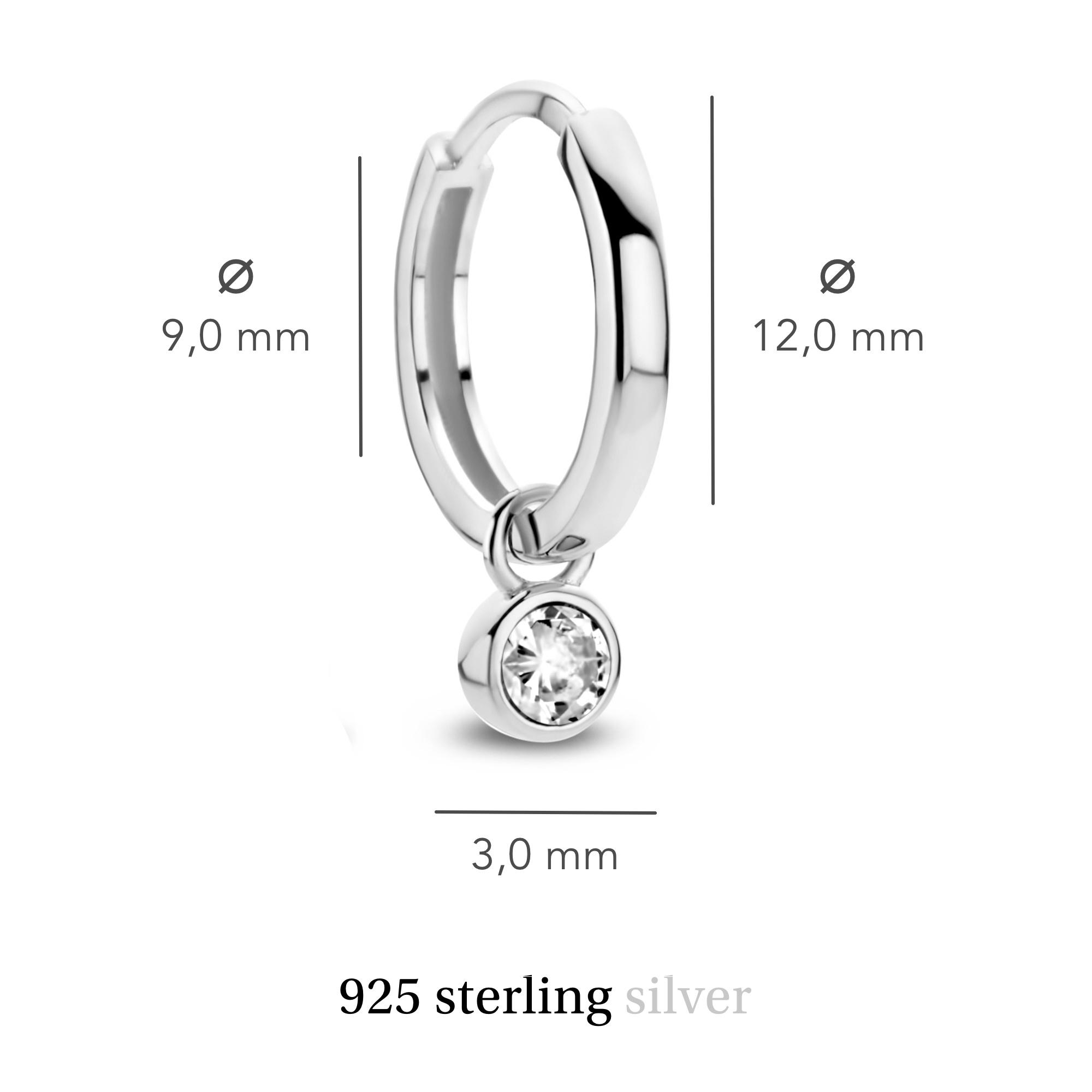 Violet Hamden Venus 925 sterling sølv creoler med fødselssten