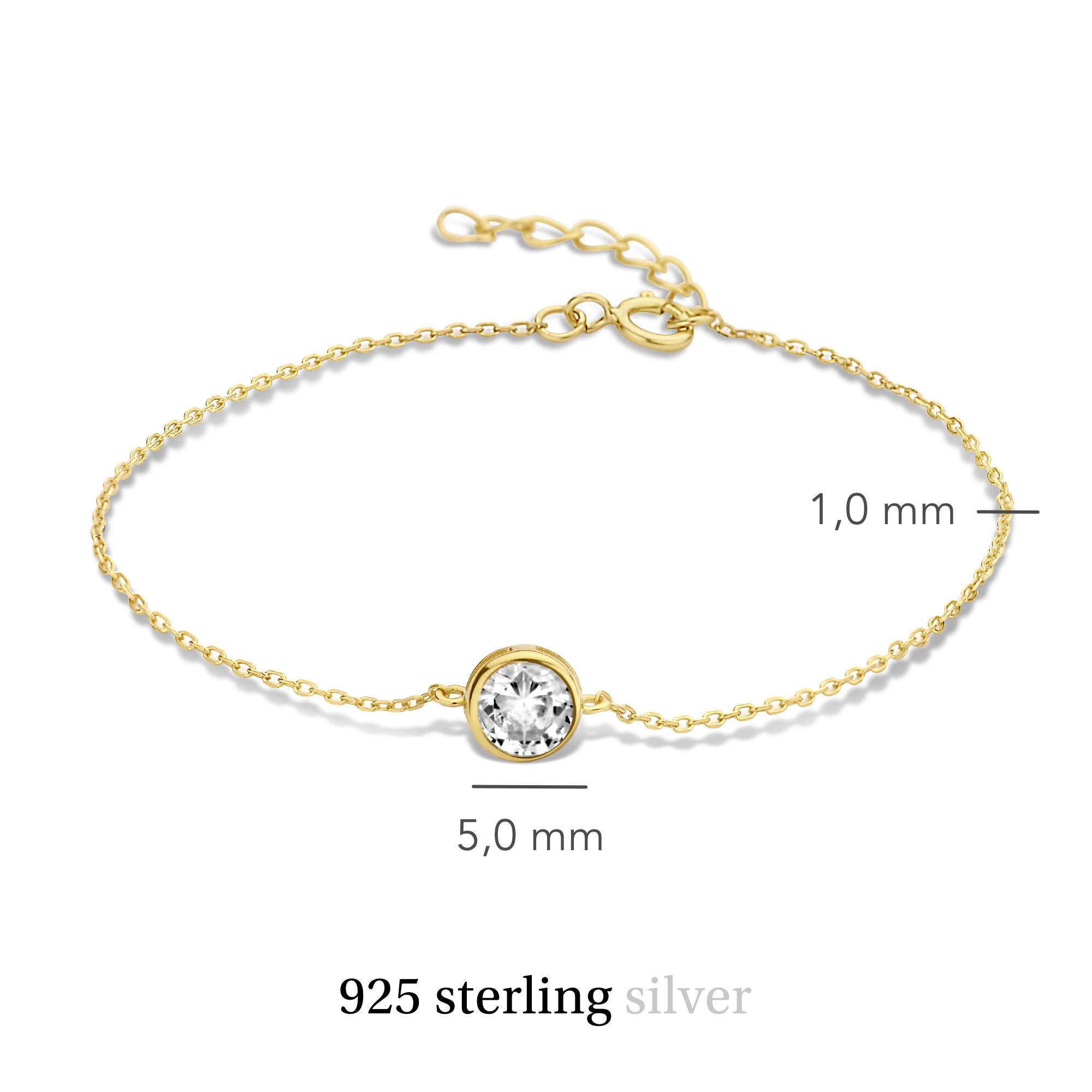 Violet Hamden Venus 925 sterling silver guldfärgad armband med födelsesten