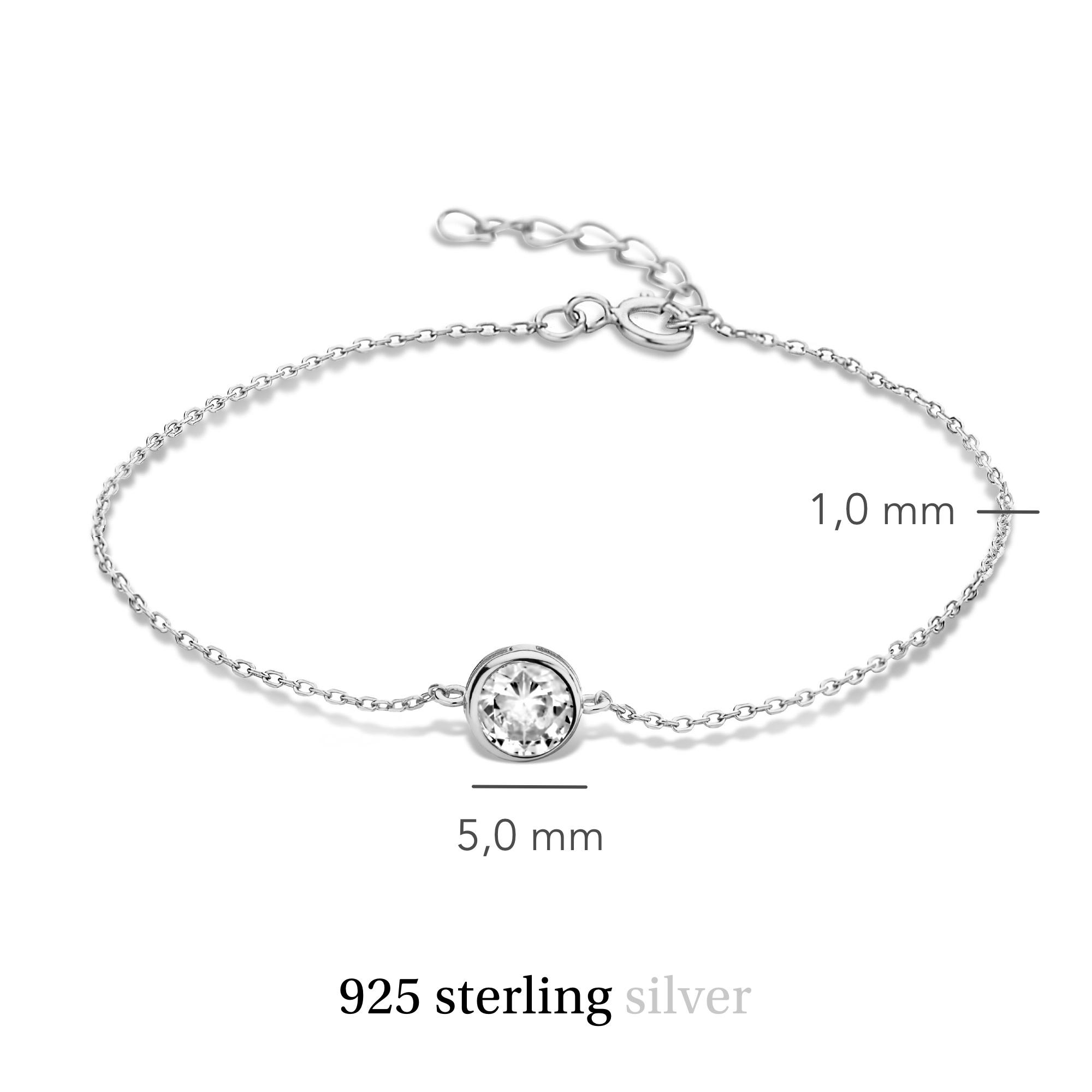 Violet Hamden Venus bracelet en argent sterling 925 avec pierre de naissance