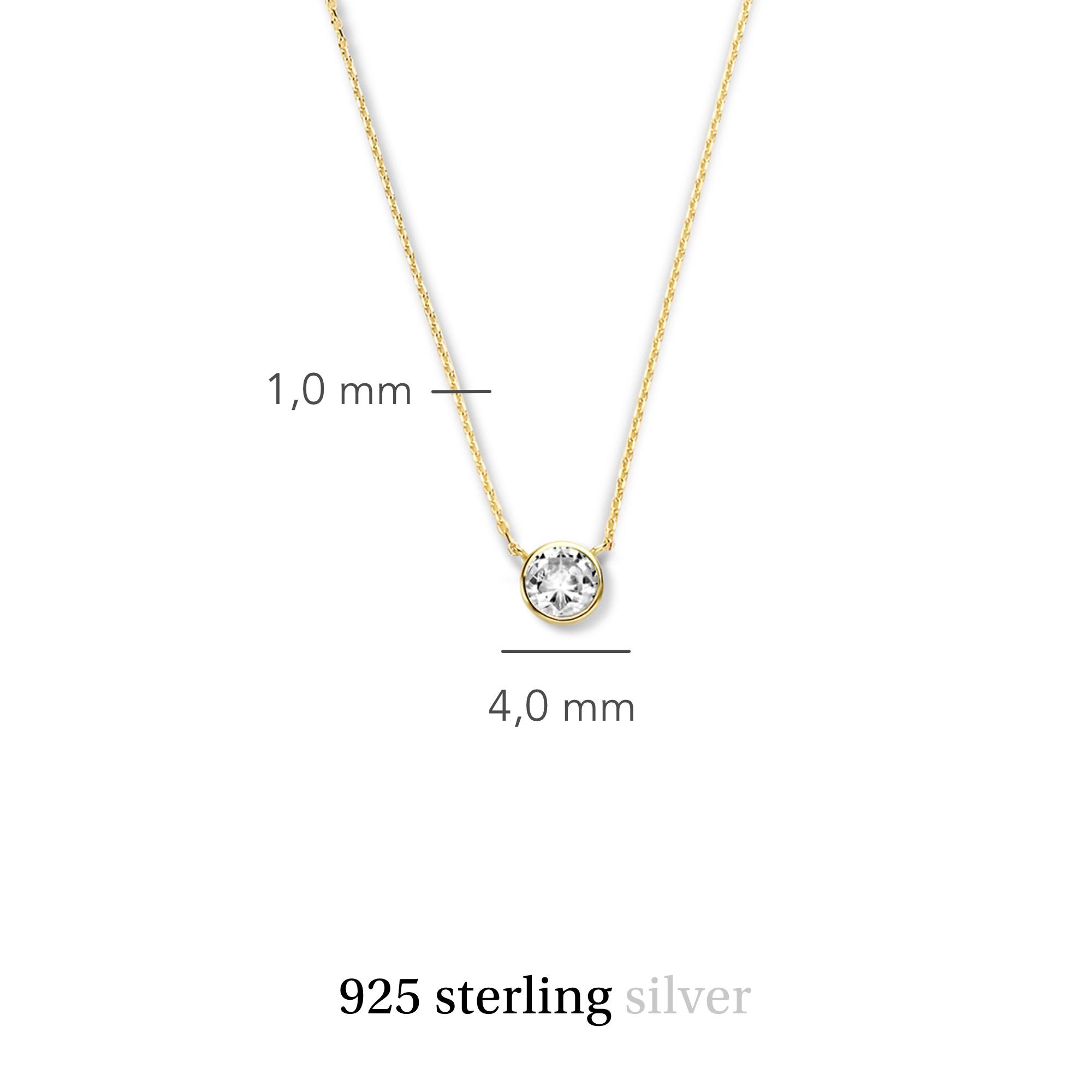 Violet Hamden Venus 925 Sterling Silber goldfarbenes Kette mit Geburtsstein