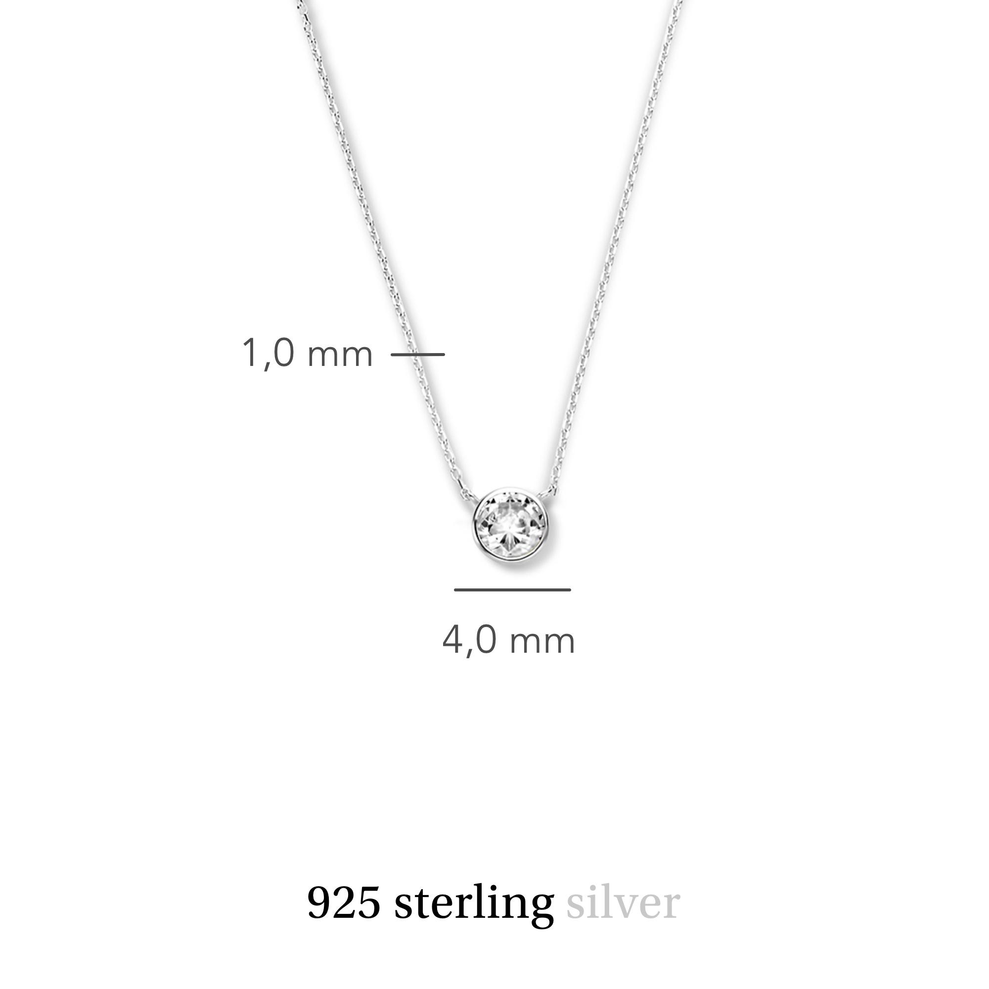 Violet Hamden Venus collier en argent sterling 925 avec pierre de naissance