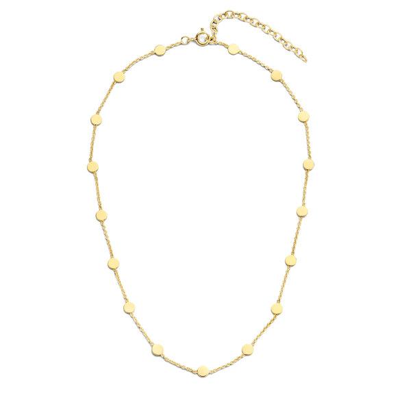 Violet Hamden Luna 925 sterling silver guldfärgad choker