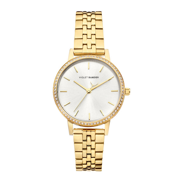 Violet Hamden Sunrise round ladies watch gold coloured and silver coloured