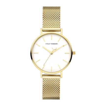 Violet Hamden Day & Night orologio da donna rotondo color oro e bianco