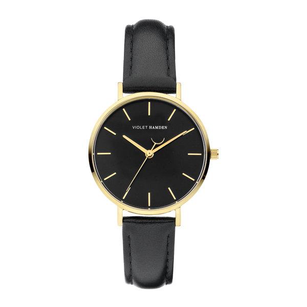 Violet Hamden Day & Night orologio da donna rotondo color oro e nero