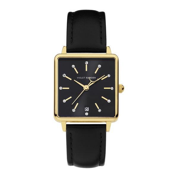 Violet Hamden Dawn orologio da donna quadrato nero