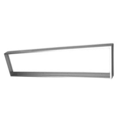 LS-Led [60x120] Ramme til LED panel 5 cm høj montering under loft (Aluminium)