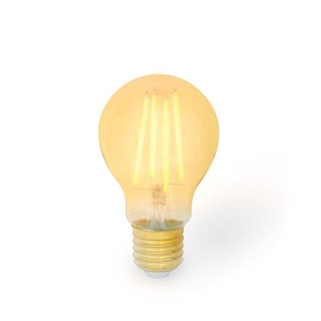 PURPL LED Filament Pære E27 pæreform A60 | 8W  Amber dæmpbar erstatter 80W