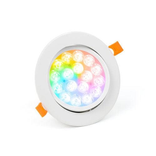 PURPL LED Indbygningsspot RGB+CCT Ø135mm Vipbar