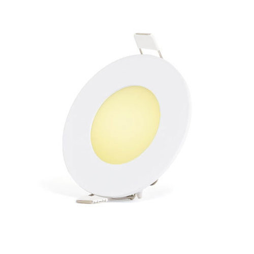 PURPL 3W LED Downlight Indbygningspanel Varm Hvid 3000K rund Ø  85mm