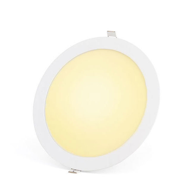 PURPL 24W LED Downlight Indbygningspanel Varm Hvid 3000 rund Ø 240mm