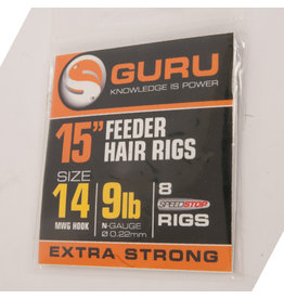 "Guru Guru Ready Rigs 15"" Feeder Hair Rigs with Speed Stop"