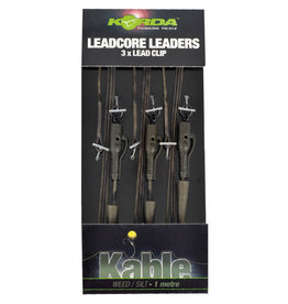 Korda Korda Kable Leadcore Hybrid Lead Clip 1m Leaders