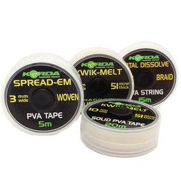 Korda Korda Kwik Melt 5mm x 40m (TWIN) PVA Tape