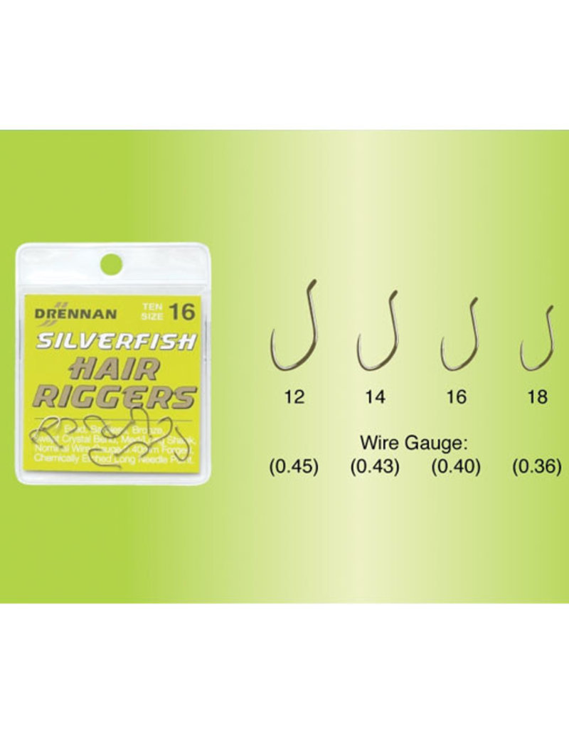 Drennan Drennan Silverfish Hair Rigger Barbless Hooks