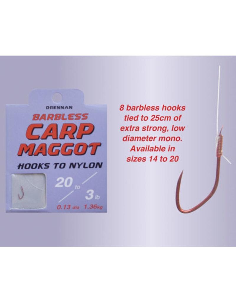 Drennan Drennan Carp Maggot Barbless Hooks to Nylon