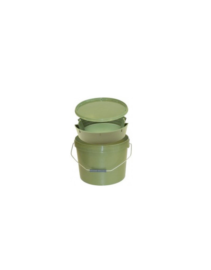 Kent Tackle Kent Tackle Round Green Bucket 10ltr including Tray