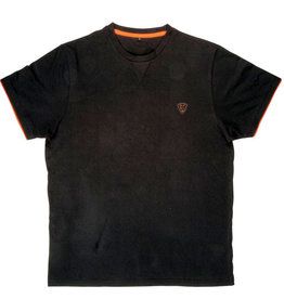 Fox Fox Black & Orange Cotton T-Shirt