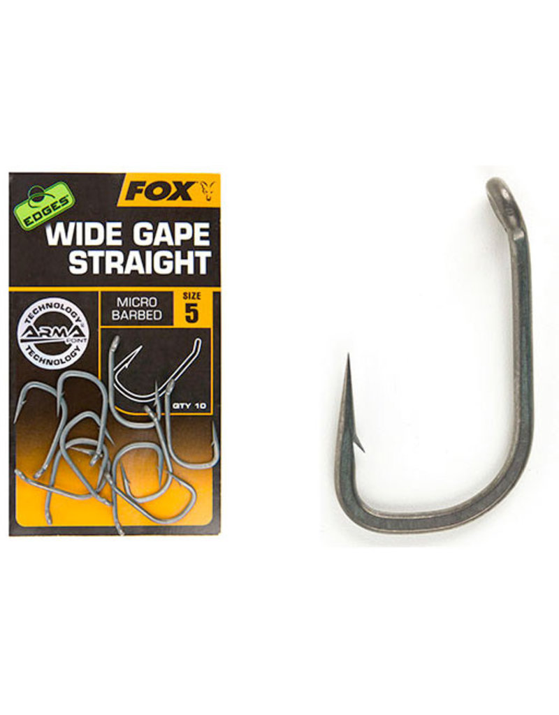 Fox Fox Edges Arma Point Wide Gape Straight Hooks