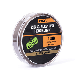 Fox Fox Edges Zig & Floater Hooklink Trans Khaki