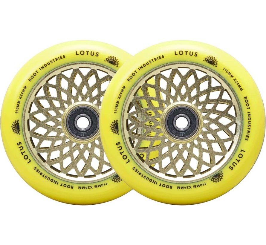110mm Lotus Stuntstep Wielen Zwart