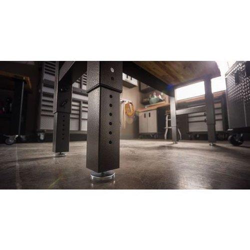 Gladiator® Werkbank (183cm) met in de hoogte verstelbare stalen poten