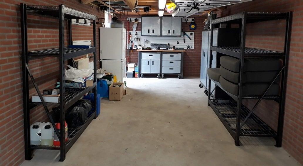 Stellingen Voor Garage.Garagepakket Met Werkbank Stellingen En Kasten Garageworks Nl