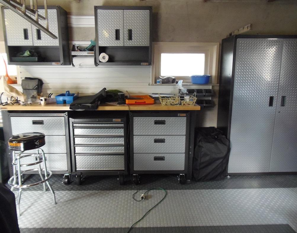 Complete Garage Inrichting Met Vloer Kasten En Werkbank