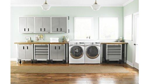 Select Series: garagekasten in eigentijds wit/grijs dessin