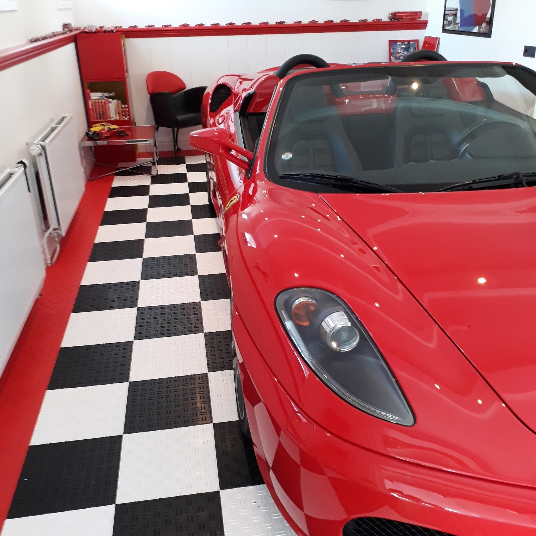 Ferrari van bovenaf