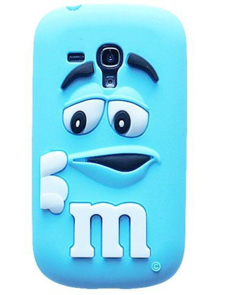 Samsung S3 Mini siliconen hoesje M&M  Blauw