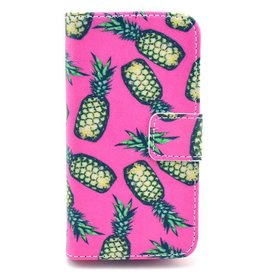 Samsung Galaxy S7  PU leren Wallet hoesje Ananas