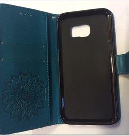 Samsung S7 Edge pasjes houder Blauw
