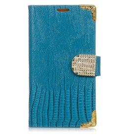 LG Optimus G3 Wallet Croco Blauw