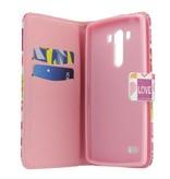 LG Optimus G3 Wallet hoesje I love You