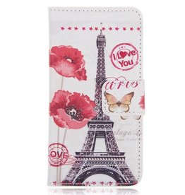 Samsung S5 Wallet Eiffeltoren  I Love You