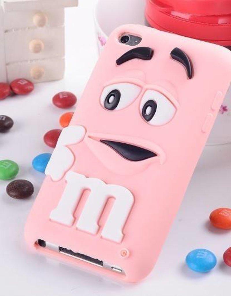 Ipod Touch 4 (G) siliconen bescherm hoesje M&M Rose