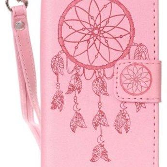 Iphone 8 Wallet rose leer hoesje