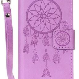 Iphone 8 Wallet  Leer Paars