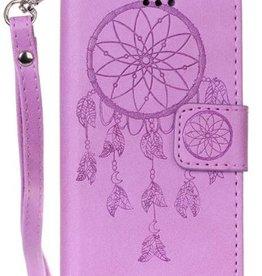 Iphone 7 / 8 Wallet  Leer Paars