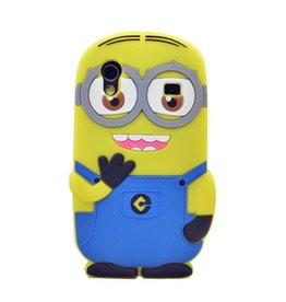 Samsung Galaxy Ace Minion Two Eyes Donker Blauw