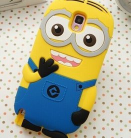 Samsung Galaxy Note 4 Minion 2 eyes Blauw