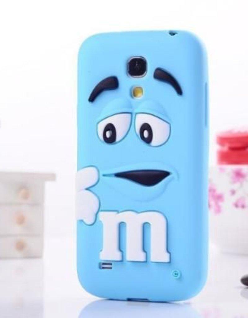 Samsung S4 Mini siliconen hoesje M&M Blauw