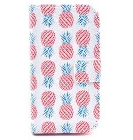 Samsung Galaxy Core 8260/62  Leren Wallet  Ananas Wit